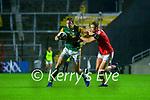 David Moran, Kerry in action against Killian O' Hanlon, Cork, during the Munster GAA Football Senior Championship Semi-Final match between Cork and Kerry at Páirc Uí Chaoimh in Cork.
