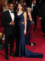 HOLLYWOOD, LOS ANGELES, CA, USA - MARCH 02: Chiwetel Ejiofor, Sari Mercer at the 86th Annual Academy Awards held at Dolby Theatre on March 2, 2014 in Hollywood, Los Angeles, California, United States. (Photo by Xavier Collin/Celebrity Monitor)