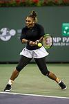 March 8, 2019: Serena Williams (USA) defeated Victoria Azarenka (BLR) 7-5, 6-3 at the BNP Paribas Open at the Indian Wells Tennis Garden in Indian Wells, California. ©Mal Taam/TennisClix/CSM