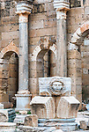 The ruins of the ancient Roman city of Leptis Magna in Libya.