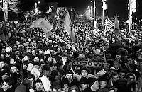 Kosovo's Independence night. Pristina, Kosovo, February 17, 2008.