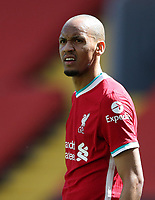 24th April 2021; Anfield, Liverpool, Merseyside, England; English Premier League Football, Liverpool versus Newcastle United; Fabinho of Liverpool