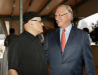 Serge Losique and Gerald Tremblay on August 31, 2010<br /> <br />  File Photo Agence Quebec Presse - Pierre Roussel