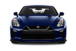 Car photography straight front view of a 2017 Nissan GT-R Black-Edition 2 Door Coupe Front View