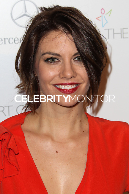 LOS ANGELES, CA - JANUARY 11: Lauren Cohan at The Art of Elysium's 7th Annual Heaven Gala held at Skirball Cultural Center on January 11, 2014 in Los Angeles, California. (Photo by Xavier Collin/Celebrity Monitor)