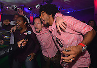 10.05.2014, Postpalast, Muenchen, GER, 1. FBL, FC Bayern Muenchen Meisterfeier, im Bild Franck Ribery and Dante of FC Bayern Muenchen dance Franck Ribery, Dante, // during official Championsparty of Bayern Munich at the Postpalast in Muenchen, Germany on 2014/05/11. EXPA Pictures © 2014, PhotoCredit: EXPA/ Eibner-Pressefoto/ EIBNER<br /> <br /> *****ATTENTION - OUT of GER***** <br /> Football Calcio 2013/2014<br /> Bundesliga 2013/2014 Bayern Campione Festeggiamenti <br /> Foto Expa / Insidefoto