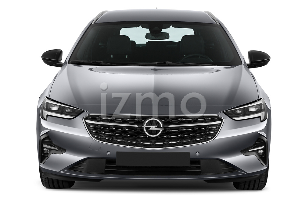 Car photography straight front view of a 2021 Opel Insignia-Sports-Tourer Ultimate 5 Door Wagon Front View