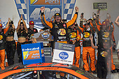 #19: Martin Truex Jr., Joe Gibbs Racing, Toyota Camry Bass Pro Shops in victory lane