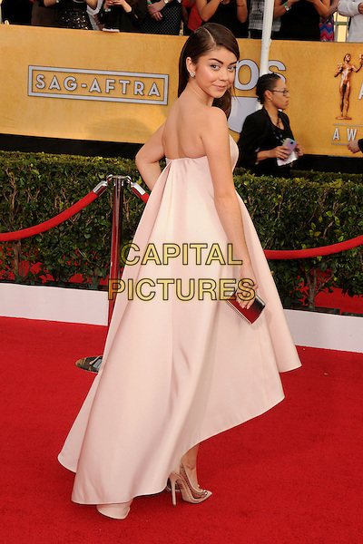 18 January 2014 - Los Angeles, California - Sarah Hyland. 20th Annual Screen Actors Guild Awards - Arrivals held at The Shrine Auditorium. Photo Credit: Byron Purvis/AdMedia<br /> CAP/ADM/BP<br /> ©Byron Purvis/AdMedia/Capital Pictures