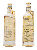 BNPS.co.uk (01202 558833)<br /> Pic: Julien'sAuctions/BNPS<br /> <br /> Pictured: Alfredo Di Stefano Chinchon Bottle.<br /> <br /> An epic collection of medals, trophies, shirts and personal items relating to footballing legend Alfredo Di Stefano is being sold by his family for over £1m.<br /> <br /> Many of the awards won by the great goalscorer have, until recently, been on display at the Real Madrid Museum, the club where he played for most of his career.<br /> <br /> The Argentine-born striker is regarded as one of the best players of all-time and is often compared to Cristiano Ronaldo.<br /> <br /> During Di Stafano's time with Real Madrid in the 1950s and '60s, the Spanish giants dominated European football, largely due to his goals and assists.