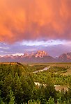 Snake River and Teton Range, Grand Teton National Park, Wyoming