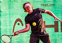 Hilversum, The Netherlands,  August 20, 2021,  Tulip Tennis Center, NKS, National Senior Tennis Championships, Men's single 50+, Sander Vissers (NED)<br /> Photo: Tennisimages/Henk Koster