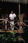 Jungle Bay resort bungalow on the south east coast of the island<br /> <br /> Bungalows perdus dans la foret du Jungle Bay Resort sur la cote sud est de l ile.