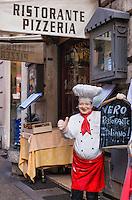 Exterior of an Italian restaurant, Rome, Italy