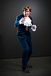 © Joel Goodman - 07973 332324 . 26/07/2015 . Manchester , UK . Portrait : AUSTIN POWERS ( Chris Stone , 31 , from Stoke-on-Trent ) at the venue . Comic Con convention at Manchester Central Convention Centre . Photo credit : Joel Goodman