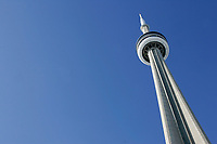 January 22, 2005, Toronto (Ontario) CANADA.The CN tower, a touristict landmark  in Toronto, canada.Photo (c) 2005 P Roussel / Images Distribution