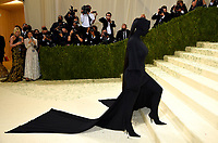 """Kim Kardashian attends The Metropolitan Museum of Art's Costume Institute benefit gala celebrating the opening of the """"In America: A Lexicon of Fashion"""" exhibition on Monday, Sept. 13, 2021, in New York. (Photo by Evan Agostini/Invision/AP)"""
