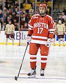 Matt Nieto (BU - 17) - The Boston College Eagles defeated the Boston University Terriers 3-2 (OT) to win the 2012 Beanpot championship on Monday, February 13, 2012, at TD Garden in Boston, Massachusetts.