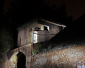 Fine art night photography.  The watch tower of Mortar Battery Sandy Hook, New Jersey.  Limited edition Fine Art Print printed to conservation standards.