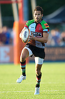 20130803 Copyright onEdition 2013 ©<br />Free for editorial use image, please credit: onEdition.<br /><br />Ollie Lindsay-Hague of Harlequins 7s in action during the J.P. Morgan Asset Management Premiership Rugby 7s Series.<br /><br />The J.P. Morgan Asset Management Premiership Rugby 7s Series kicks off for the fourth season on Thursday 1st August with Pool A at Kingsholm, Gloucester with Pool B being played at Franklin's Gardens, Northampton on Friday 2nd August, Pool C at Allianz Park, Saracens home ground, on Saturday 3rd August and the Final being played at The Recreation Ground, Bath on Friday 9th August. The innovative tournament, which involves all 12 Premiership Rugby clubs, offers a fantastic platform for some of the country's finest young athletes to be exposed to the excitement, pressures and skills required to compete at an elite level.<br /><br />The 12 Premiership Rugby clubs are divided into three groups for the tournament, with the winner and runner up of each regional event going through to the Final. There are six games each evening, with each match consisting of two 7 minute halves with a 2 minute break at half time.<br /><br />For additional images please go to: http://www.w-w-i.com/jp_morgan_premiership_sevens/<br /><br />For press contacts contact: Beth Begg at brandRapport on D: +44 (0)20 7932 5813 M: +44 (0)7900 88231 E: BBegg@brand-rapport.com<br /><br />If you require a higher resolution image or you have any other onEdition photographic enquiries, please contact onEdition on 0845 900 2 900 or email info@onEdition.com<br />This image is copyright the onEdition 2013©.<br /><br />This image has been supplied by onEdition and must be credited onEdition. The author is asserting his full Moral rights in relation to the publication of this image. Rights for onward transmission of any image or file is not granted or implied. Changing or deleting Copyright information is illegal as specified in the Copyright, Design and Patents Act 1988. If you ar