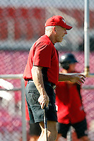 Tom Trebelhorn, manager of the 2010 Salem-Keizer Volcanoes.Photo by:  Bill Mitchell/Four Seam Images..