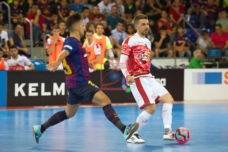League LNFS 2018/2019.<br /> PlayOff Final. 1er. partido.<br /> FC Barcelona Lassa vs El Pozo Murcia: 7-2.<br /> Joselito vs Andresito.