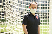 PORTLAND, OR - MAY 09: Mark Parsons of the Portland Thorns wears a mask at Providence Park on May 09, 2020 in Portland, Oregon.
