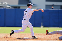 Xavier Musketeers Seth Willoughby #3 during a game vs. the Akron Zips at Chain of Lakes Park in Winter Haven, Florida;  March 11, 2011.  Xavier defeated Akron 7-0.  Photo By Mike Janes/Four Seam Images