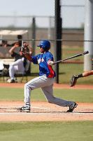 Leonel De Los Santos - Texas Rangers 2009 Instructional League. .Photo by:  Bill Mitchell/Four Seam Images..