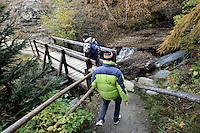 Escursionisti nel Parco Nazionale del Gran Paradiso in Val d'Aosta<br /> Hikers in the Gran Paradiso National Park, Aosta Valley.<br /> UPDATE IMAGES PRESS/Riccardo De Luca