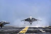- Amphibious assault ship USS Wasp, vertical takeoff attack aircraft AV-8B Harrier<br /> <br /> - Nave da assalto anfibio USS Wasp, aeri da attacco a decollo verticale AV-8B Harrier