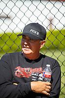 Apr 23, 2017; Baytown, TX, USA; NHRA top fuel driver Scott Palmer during the Springnationals at Royal Purple Raceway. Mandatory Credit: Mark J. Rebilas-USA TODAY Sports