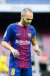 Andres Iniesta Lujan of FC Barcelona in action during the La Liga 2017-18 match between FC Barcelona and Las Palmas at Camp Nou on 01 October 2017 in Barcelona, Spain. (Photo by Vicens Gimenez / Power Sport Images