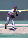 New York Mets Ron Darling (12) in action during a game from the 1988 season.  Ron Darling played for 13 years with 3 different teams.