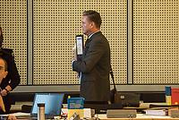 """10. Sitzung des 2. Untersuchungsausschusses <br /> der 18. Wahlperiode des Berliner Abgeordnetenhaus - """"BER II"""" - am Freitag den 1. Maerz 2019.<br /> Der Ausschuss soll die Ursachen, Konsequenzen und Verantwortung fuer die Kosten- und Terminueberschreitungen des im Bau befindlichen Flughafens """"Berlin Brandenburg Willy Brandt"""" aufklaeren.<br /> Als oeffentlicher Tagesordnungspunkt war die Beweiserhebung durch Vernehmung der Zeugin Heike Foelster vorgesehen. Heike Foelster ist seit 2013 Geschaeftsfuehrerin Finanzen (CFO) beim Flughafen Berlin Brandenburg.<br /> Im Bild: <br /> 27.2.2019, Berlin<br /> Copyright: Christian-Ditsch.de<br /> [Inhaltsveraendernde Manipulation des Fotos nur nach ausdruecklicher Genehmigung des Fotografen. Vereinbarungen ueber Abtretung von Persoenlichkeitsrechten/Model Release der abgebildeten Person/Personen liegen nicht vor. NO MODEL RELEASE! Nur fuer Redaktionelle Zwecke. Don't publish without copyright Christian-Ditsch.de, Veroeffentlichung nur mit Fotografennennung, sowie gegen Honorar, MwSt. und Beleg. Konto: I N G - D i B a, IBAN DE58500105175400192269, BIC INGDDEFFXXX, Kontakt: post@christian-ditsch.de<br /> Bei der Bearbeitung der Dateiinformationen darf die Urheberkennzeichnung in den EXIF- und  IPTC-Daten nicht entfernt werden, diese sind in digitalen Medien nach §95c UrhG rechtlich geschuetzt. Der Urhebervermerk wird gemaess §13 UrhG verlangt.]"""