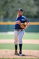 GCL Braves relief pitcher Ryan Schlosser (52) during a game against the GCL Pirates on August 10, 2016 at Pirate City in Bradenton, Florida.  GCL Braves defeated the GCL Pirates 5-1.  (Mike Janes/Four Seam Images)