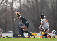 LOUISVILLE, KY - MARCH 13: Lauren Milliet #2 of Racing Louisville FC loses possession of the ball during a game between West Virginia University and Racing Louisville FC at Thurman Hutchins Park on March 13, 2021 in Louisville, Kentucky.