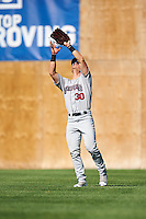 Mahoning Valley Scrappers right fielder Mitch Longo (30) catches a fly ball during a game against the Auburn Doubledays on June 19, 2016 at Falcon Park in Auburn, New York.  Mahoning Valley defeated Auburn 14-3.  (Mike Janes/Four Seam Images)