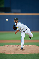 Akron RubberDucks pitcher Tanner Tully (29) during an Eastern League game against the Reading Fightin Phils on June 4, 2019 at Canal Park in Akron, Ohio.  Akron defeated Reading 8-5.  (Mike Janes/Four Seam Images)