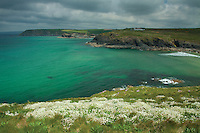 Poldhu Cove near Mullion, on the Lizard Peninsula, Cornwall