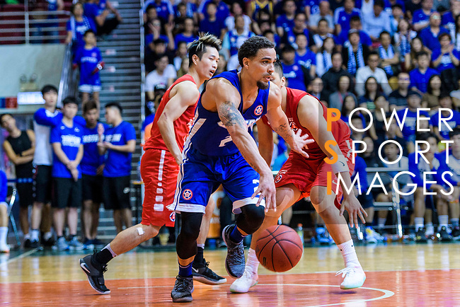 Marcus Ryan Elliott #2 of Eastern Long Lions (C) in action during the Hong Kong Basketball League 2018 match between SCAA v Eastern Long Lions on August 10, 2018 in Hong Kong, Hong Kong. Photo by Marcio Rodrigo Machado/Power Sport Images