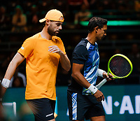 Rotterdam, The Netherlands, 15 Februari 2020, ABNAMRO World Tennis Tournament, Ahoy, <br /> Doubles: Raven Klaasen (RSA) and Oliver Marach (AUT).<br /> Photo: www.tennisimages.com