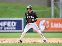 Venice Indians outfielder Michael Robertson (12) during the 42nd Annual FACA All-Star Baseball Classic on June 5, 2021 at Joker Marchant Stadium in Lakeland, Florida.  (Mike Janes/Four Seam Images)