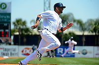 Detroit Tigers shortstop Omar Infante #4 during a Spring Training game against the Tampa Bay Rays at Joker Marchant Stadium on March 29, 2013 in Lakeland, Florida.  (Mike Janes/Four Seam Images)