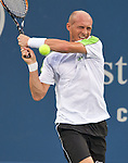 Nikolay Davydenko of Russia at the Western & Southern Open in Mason, OH on August 16, 2012.