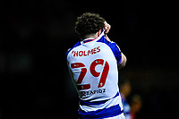 21st April 2021; Kenilworth Road, Luton, Bedfordshire, England; English Football League Championship Football, Luton Town versus Reading; Tom Holmes of Reading at the full time whistle. Reading's draw coupled with Barnsley's win at Huddersfield meant the gap between them in seventh and Barnsley in sixth was stretched to six points with three games to play.