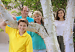 """August 9, 2016  copyright Genesis/Jim Mendenhall 2016<br /> Family portrait for World Visions """"Why I love Being a Child Sponsor"""" column.  Sarah said she was surprised to find that Family Christian Bookstore at the checkout offered her an opportunity to sponsor a child with World Vision as she was not familiar with the sponsorship program. The bookstore had the paper work with the photo of the exact child on hand.  Also of note, Sarah picked a five year old at the time because that was then the age of their youngest child."""