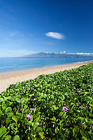 Ka'anapali Beach, Maui, with Moloka'i in the distance.