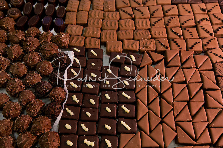 Trays of chocolates prepared by students at Johnson & Wales University, where they get hands-on practice in culinary arts. The Charlotte campus, shown here, is home to more than 2,500 students from 46 states and 15 foreign countries.
