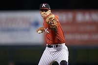 Kannapolis Intimidators relief pitcher Tyler Johnson (21) in action against the Lakewood BlueClaws at Kannapolis Intimidators Stadium on April 6, 2018 in Kannapolis, North Carolina.  The BlueClaws defeated the Intimidators 4-3. (Brian Westerholt/Four Seam Images)